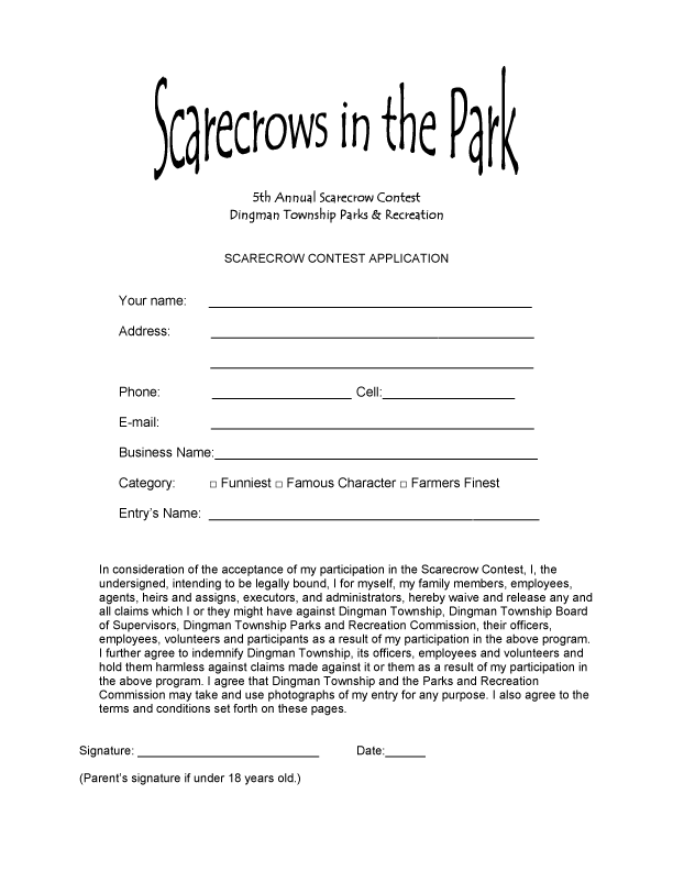 Sign Up For The Scarecrow Contes
